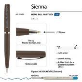 Ручка Sienna шариковая  автоматическая, коричневый металлический корпус, 1.0 мм, синяя, арт. 017353403