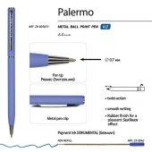 Ручка Palermo шариковая автоматическая, фиолетовый металлический корпус, 0,7 мм, синяя, арт. 017357303