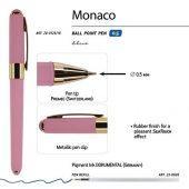 Ручка пластиковая шариковая Monaco, 0,5мм, синие чернила, розовый, арт. 017428403