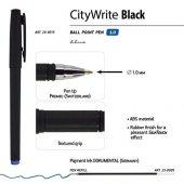 Ручка CityWrite.BLACK шариковая, черный пластиковый корпус, 1.0 мм, синяя, арт. 017356203