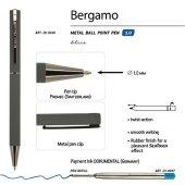 Ручка Bergamo шариковая автоматическая, серый металлический корпус, 1.0 мм, синяя, арт. 017355003