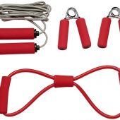 Набор для фитнеса Dwayne, красный, арт. 017513703