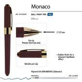 Ручка пластиковая шариковая Monaco, 0,5мм, синие чернила, коричневый, арт. 017428703