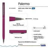 Ручка Bruno Visconti Palermo шариковая автоматическая, бордовый металлический корпус, 0,7 мм, синяя, арт. 017356603