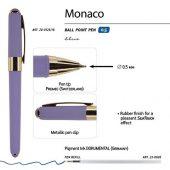 Ручка пластиковая шариковая Monaco, 0,5мм, синие чернила, лавандовый, арт. 017429203