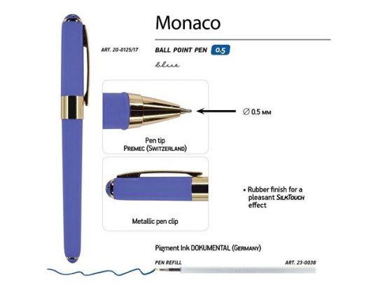 Ручка пластиковая шариковая Monaco, 0,5мм, синие чернила, лиловый, арт. 017429403