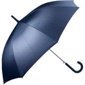 Зонт-трость полуавтомат с прорезиненной ручкой, темно-синий, арт. 017349403