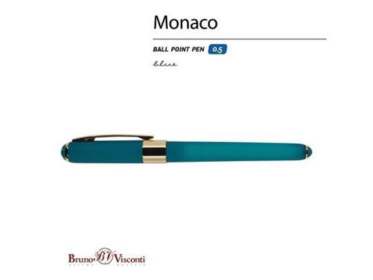Ручка пластиковая шариковая Monaco, 0,5мм, синие чернила, морская волна, арт. 017429303