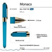Ручка пластиковая шариковая Monaco, 0,5мм, синие чернила, бирюзовый, арт. 017428203