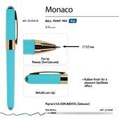 Ручка пластиковая шариковая Monaco, 0,5мм, синие чернила, небесно-голубой, арт. 017429703