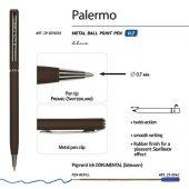 Ручка Palermo шариковая  автоматическая, коричневый металлический корпус, 0,7 мм, синяя, арт. 017356403