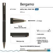 Ручка Bergamo шариковая автоматическая, черный металлический корпус, 1.0 мм, синяя, арт. 017355203