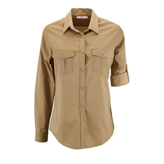 Рубашка женская BURMA WOMEN бежевая, размер XS