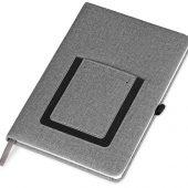 Блокнот Pocket 140*205 мм с карманом для телефона, серый, арт. 017728303