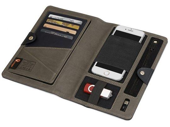 Органайзер с портативным зарядным устройством 4000 mAh, черный, арт. 017567303