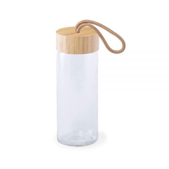 "Бутылка для воды ""Simple"", 19 см, бамбук, стекло"
