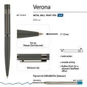 Ручка Verona шариковая  автоматическая, серый металлический корпус 1.0 мм, синяя, арт. 017889203