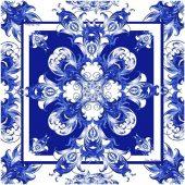 Русский платок в стиле Гжель, арт. 017753003