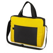 Конференц сумка для документов Congress, желтый/черный, арт. 017899503