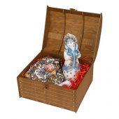Подарочный набор Снегурочка: скульптура , платок, арт. 017800003