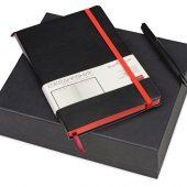 Подарочный набор Bruno Visconti Megapolis Soft: ежедневник А5 недат., ручка шарик., черный/красный, арт. 017830903