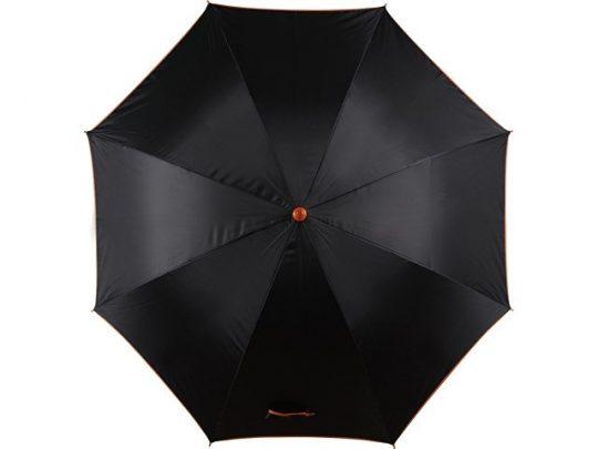 Зонт-трость полуавтоматический, оранжевый, арт. 017774603