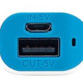 Портативное зарядное устройство (power bank) Basis, 2000 mAh, белый/светло-голубой, арт. 017835203