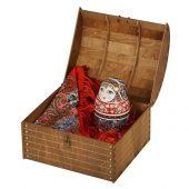 Подарочный набор Матрешка: штоф 0,5л, платок, арт. 017867403