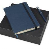 Подарочный набор Bruno Visconti Megapolis Velvet: ежедневник А5 недат., ручка шарик., темно-синий, арт. 017830303