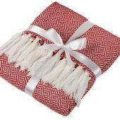 Плед акриловый Tassel с белой бахромой, красный, арт. 017819703