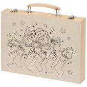 Набор для рисования из 67 предметов в чемодане с рождественским рисунком, арт. 018106203