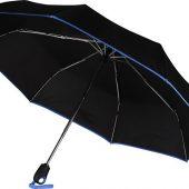Зонт складной Уоки, черный/синий, арт. 017974603