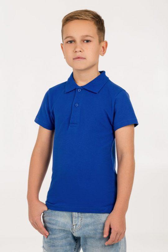 Рубашка поло детская Virma Kids, ярко-синяя, 6 лет