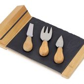 Набор для сыра из сланцевой доски и ножей Bamboo collection Taleggio, арт. 018132403