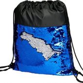 Блестящий рюкзак-мешок Mermaid со шнурком, черный/синий, арт. 018133103