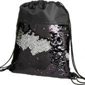 Блестящий рюкзак-мешок Mermaid со шнурком, черный, арт. 018133203