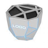 Портативная колонка Geo, серебристый + синяя подсветка, арт. 018115103