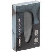Флешка Pebble, серая, USB 3.0, 16 Гб