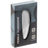 Флешка Pebble, светло-серая, USB 3.0, 16 Гб