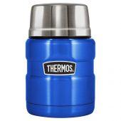 Термос из нерж. стали тм THERMOS SK3000-BL Food Jar 0.470L, синий, арт. 018381303