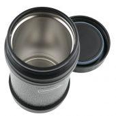 Термос из нерж. стали для еды тм ThermoCafe HAMJNL-500FJ Hammertone Coating, 0.5L, серый, арт. 018388803