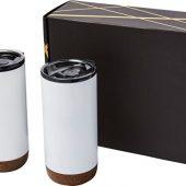 Подарочный набор медных термокружок с вакуумной изоляцией Valhalla, белый, арт. 018377603