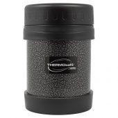 Термос из нерж. стали для еды тм ThermoCafe HAMJNL-350FJ Hammertone Coating, 0.35L, серый, арт. 018388703
