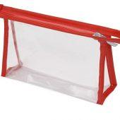 Прозрачнаяпластиковаякосметичка Lucy,красный, арт. 018393203