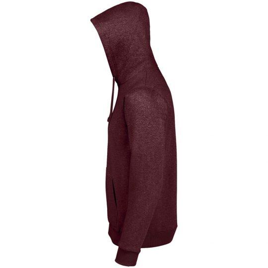 Толстовка унисекс Spencer, бордовый меланж, размер 3XL