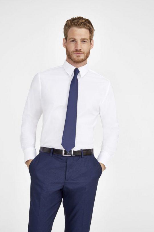 Рубашка мужская с длинным рукавом Brighton холодный голубой, размер 4XL