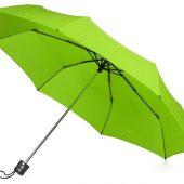 Зонт складной Columbus, механический, 3 сложения, с чехлом, зеленое яблоко, арт. 018551103