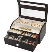 Шкатулка для хранения часов и ручек Базель, черный (Ou), арт. 018944703
