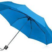 Зонт складной Columbus, механический, 3 сложения, с чехлом, голубой, арт. 018551203