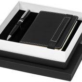 Подарочный набор Legatto из блокнота форматаА6 и шариковой ручки, черный, арт. 018945603